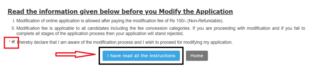 modification of rrb ntpc online form